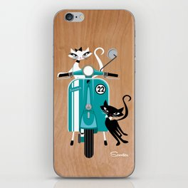 Scooter-a-go-go-Cats iPhone Skin