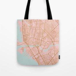 Pink and gold Manila map Tote Bag