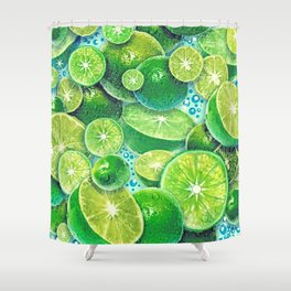 Lime Time Shower Curtain