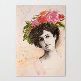 Flower Hat Canvas Print
