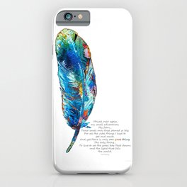 One Great Thing - Native American Colorful Feather Art - Sharon Cummings iPhone Case