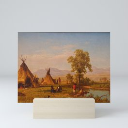 Albert Bierstadt - Sioux Village near Fort Laramie (1859) Mini Art Print
