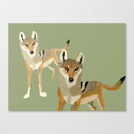 Totem Indian Wolf Canvas Print