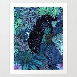 The Jungle at Night Colour Version Art Print