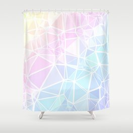 Pastel Triangles 1 Shower Curtain