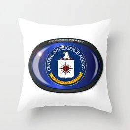 CIA Flag Oval Throw Pillow