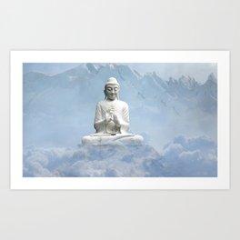 Buddha in Clouds Art Print