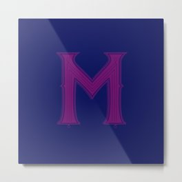 Letter M - 36 Days of Type Metal Print