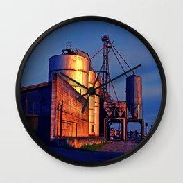 Urban grain depot Wall Clock
