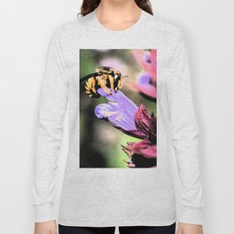 Bee and Flower Long Sleeve T-shirt