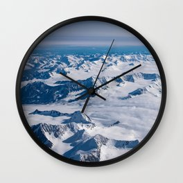 Aerial Glacier Four - Alaska Wall Clock