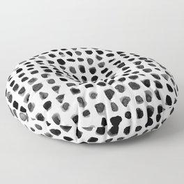 Dots (Black) Floor Pillow
