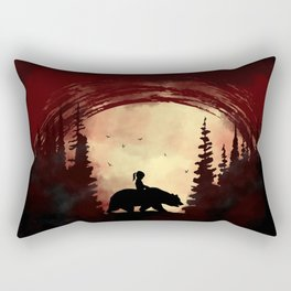 Moon and Forest Rectangular Pillow