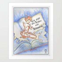 Never burn books! Art Print