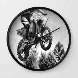 Got Some Air!  - Motocross Racer Wall Clock