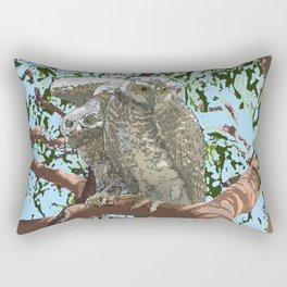 Powerful Owl Ninox strenuab Chrisy Wild Rectangular Pillow