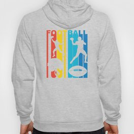 Retro 1970's Style Football Players Hoody