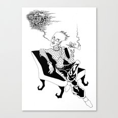 Opium smoker Canvas Print