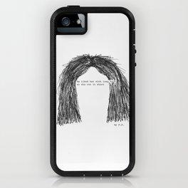 Short hair (famous tumblr quote) by Pien Pouwels iPhone Case