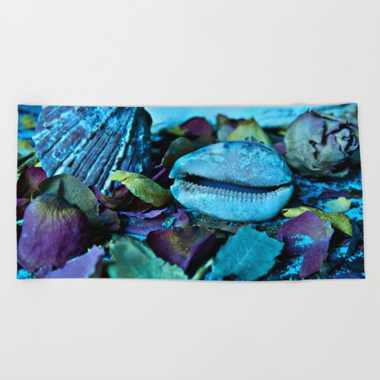 BLUE Maritime Symphony of Seashell Beach Towel