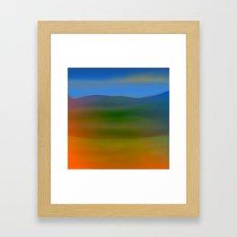 Warm Hillscape Sunset Framed Art Print