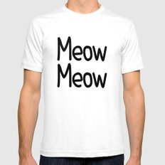 Meow Meow Mens Fitted Tee White SMALL