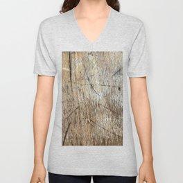 Scratched Wood Unisex V-Neck