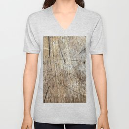 Scratched Wood Unisex V-Neck
