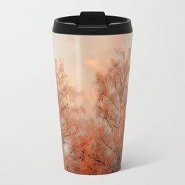 TREES AT SUNSET Metal Travel Mug
