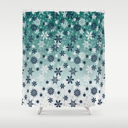 It's snowing snowflakes Winter snow Shower Curtain