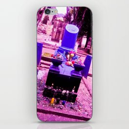 The most sinister cemetery grave. iPhone Skin