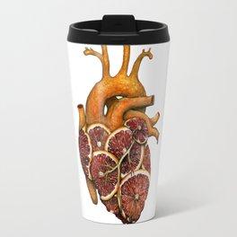 Blood Orange Heart Travel Mug