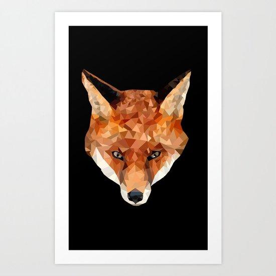 Geo Fox Art Print