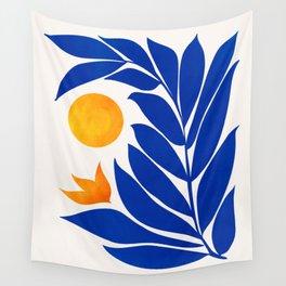Indigo Garden Sunset Wall Tapestry