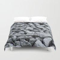black and gold Duvet Covers featuring Black Gold by Marina Scheinost