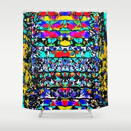 Space Furby Shower Curtain