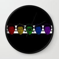 childish gambino Wall Clocks featuring Childish Gambino (Divide) by KAZOO