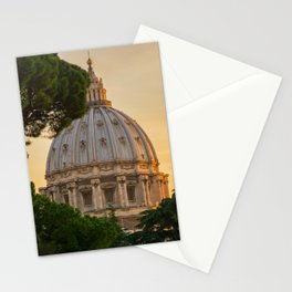 Sunset At The Vatican Stationery Cards