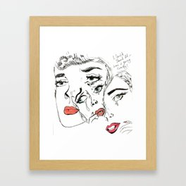 I Can't Stand It... Framed Art Print
