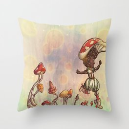 Mushroom Fairy Throw Pillow