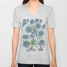 Blue roses Unisex V-Neck