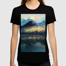 Mountain Lake Under Sunrise T-shirt
