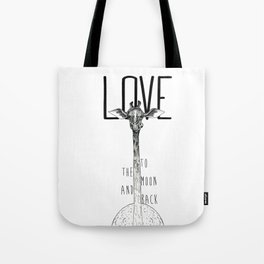 LOVE TO THE MOON AND BACK Tote Bag