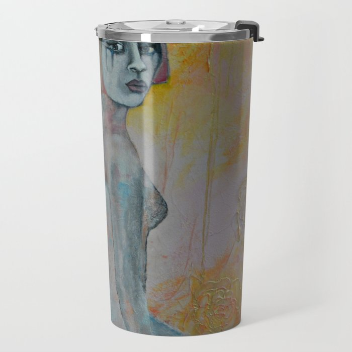Portrait of lady Natasha Circus Performer Travel Mug