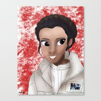 princess leia Canvas Prints featuring Leia by BellaG studio