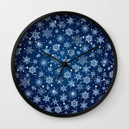 Snowflake pattern Wall Clock