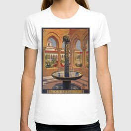 Palermo Monreale vintage 1920s Italian travel ad T-shirt
