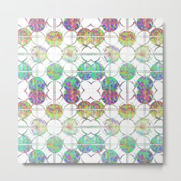 Refraction Tiles Metal Print