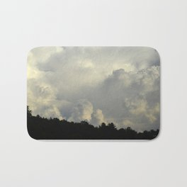 White Cloudscape Bath Mat