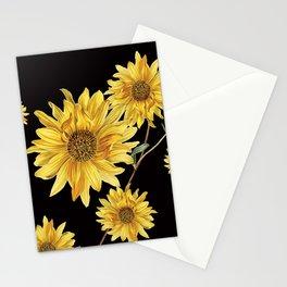 Sunflower Pattern 2 Stationery Cards